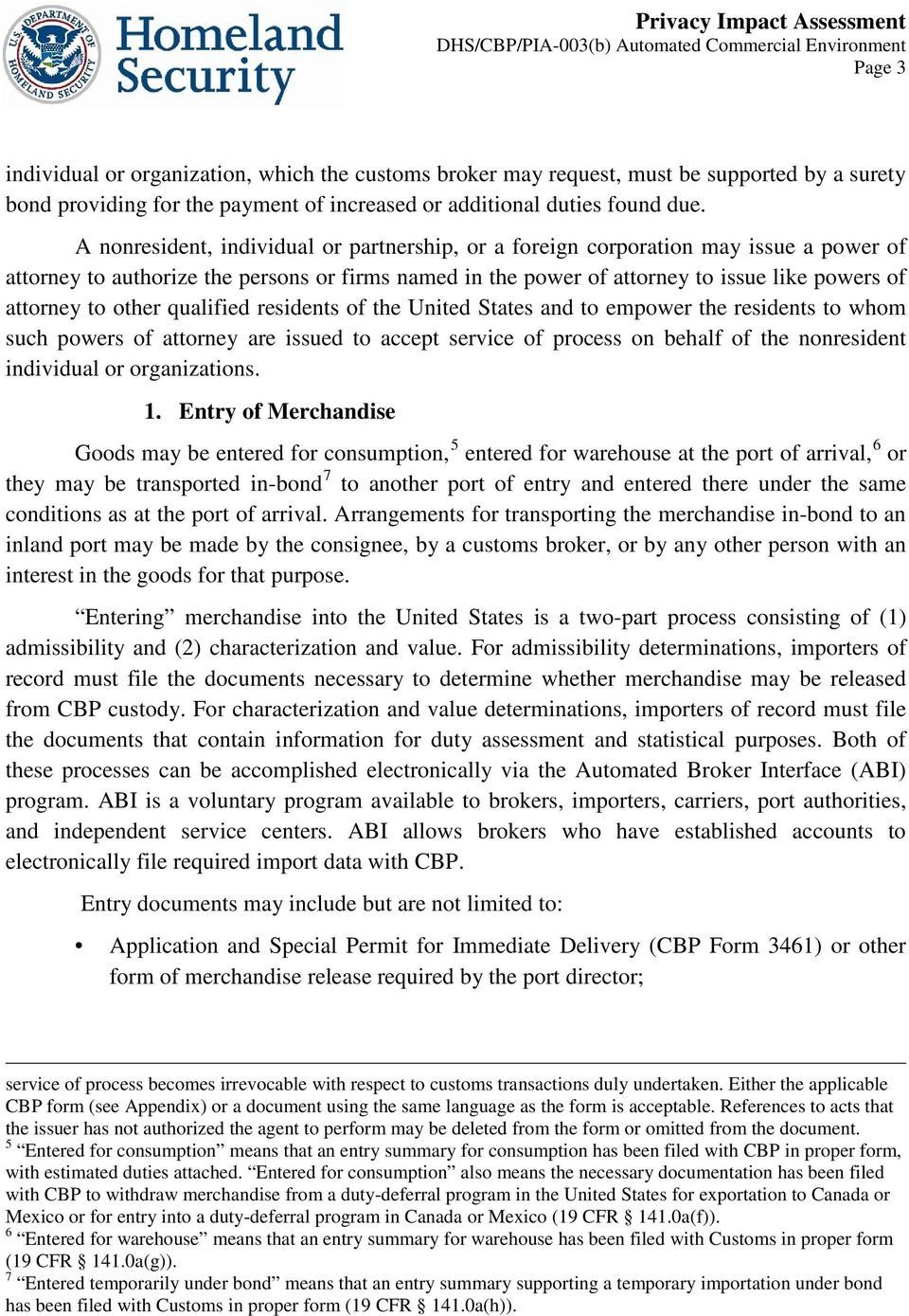 Automated Commercial Environment (ACE) - PDF