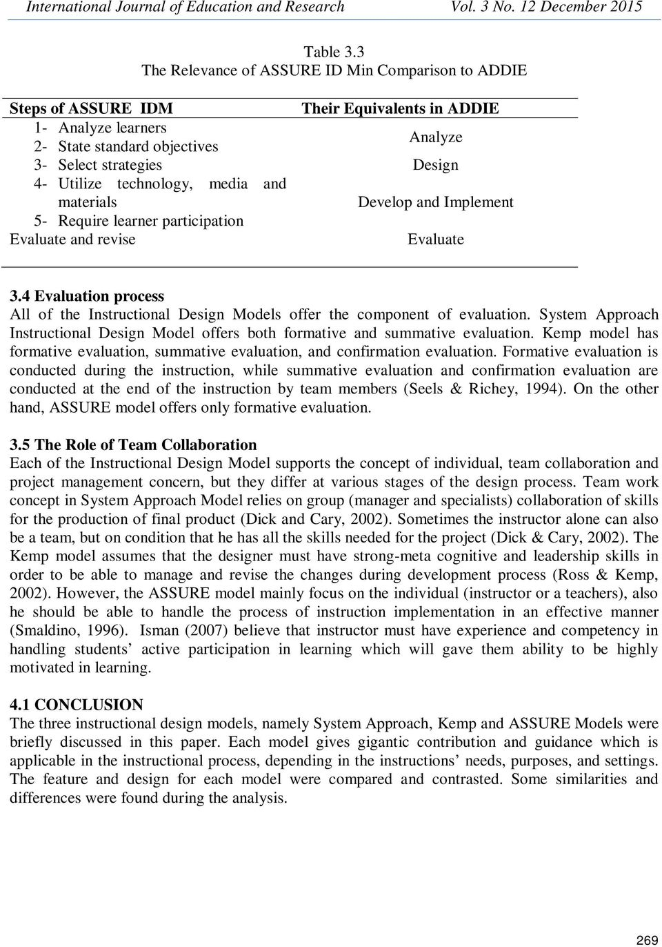 Comparative Analysis Between System Approach Kemp And Assure Instructional Design Models Pdf Free Download