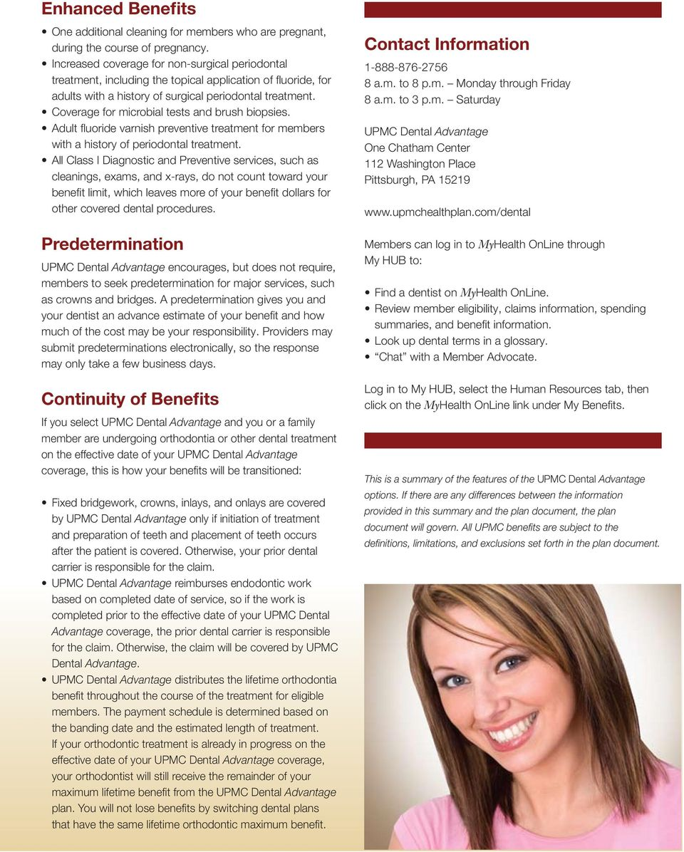 UPMC Dental Advantage - PDF