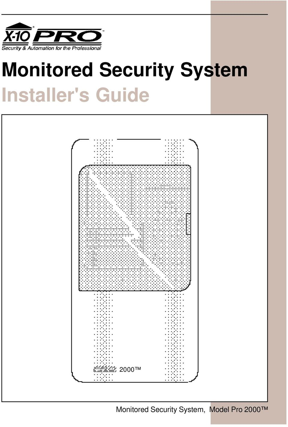 Monitored Security System Installers Guide Pdf X10 Wall Switch Wiring Diagram 2000