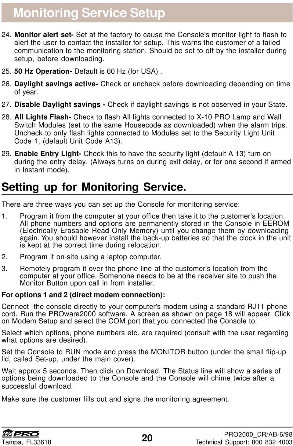 Monitored Security System Installers Guide Pdf X10 Wall Switch Wiring Diagram 26 Daylight Savings Active Check Or Uncheck Before Downloading Depending On Time Of Year