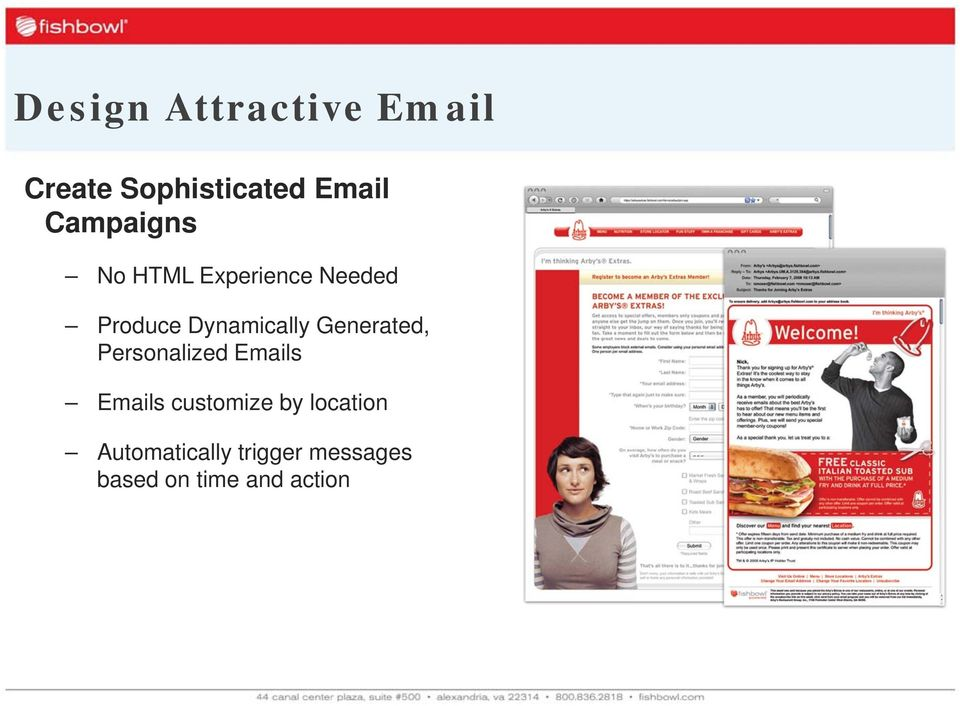 Generated, Personalized Emails Emails customize by