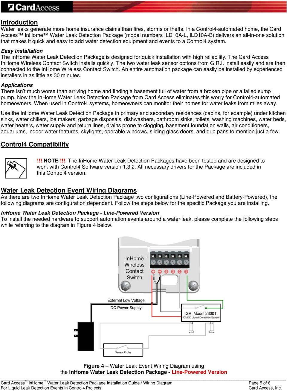 event wiring diagram inhome water leak detection package pdf free download  inhome water leak detection package