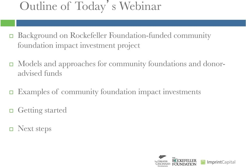 Impact Investing through Donor Advised Funds at Community