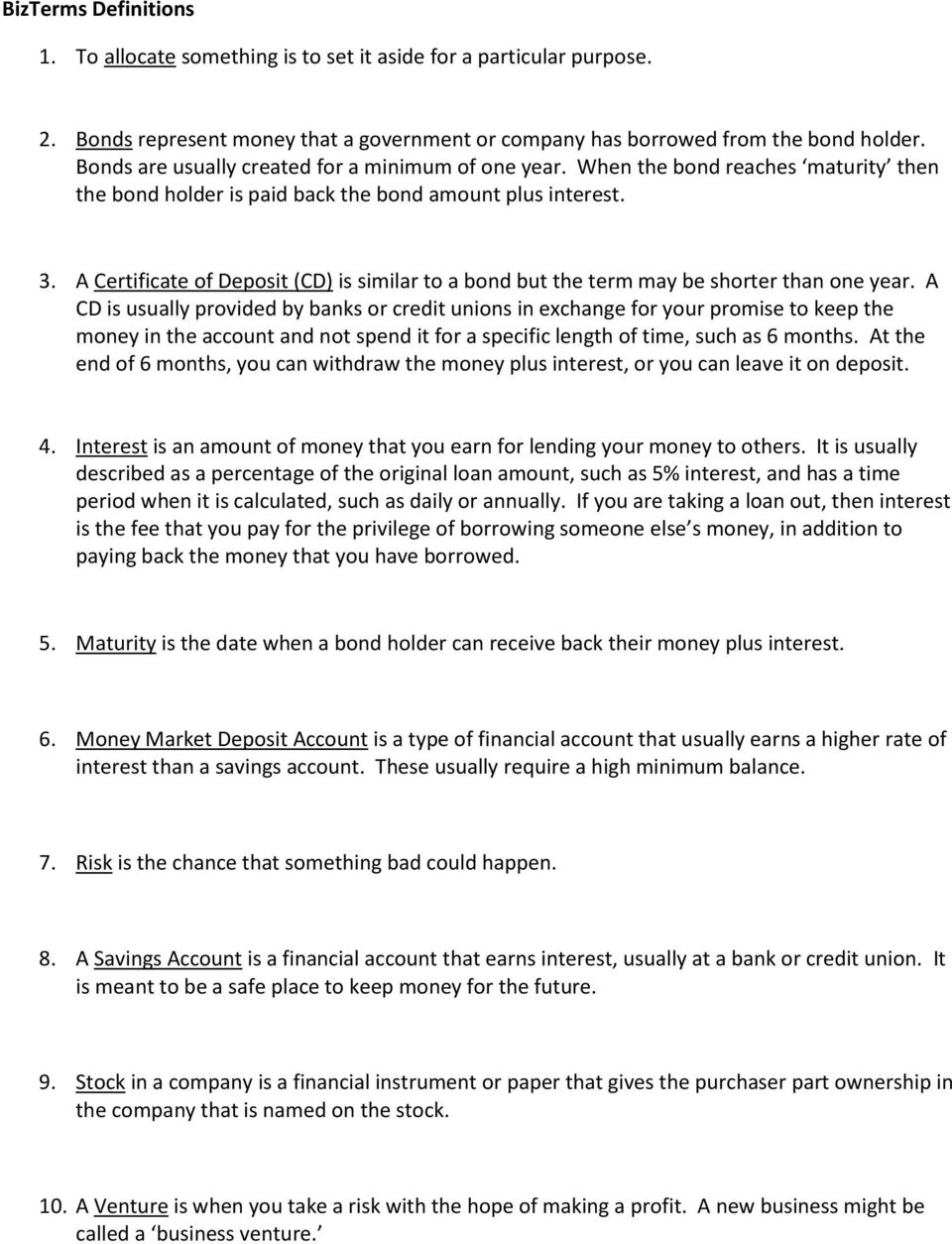 Chapter Four Saving And Investing Pdf