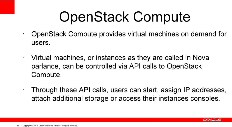 to OpenStack Compute.