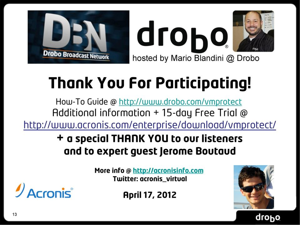 com/enterprise/download/vmprotect/ + a special THANK YOU to our listeners and to expert