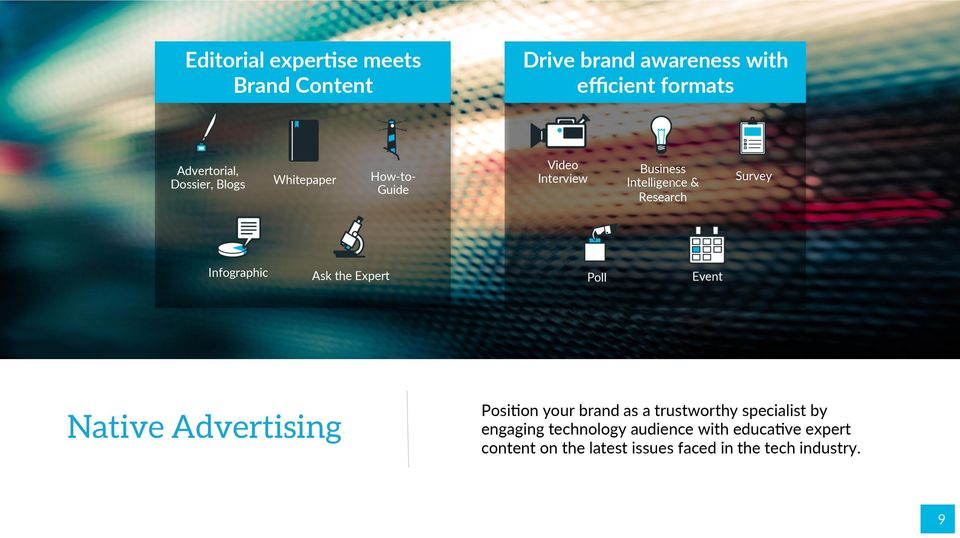 Infographic Ask the Expert Poll Event Native Advertising Posi>on your brand as a trustworthy