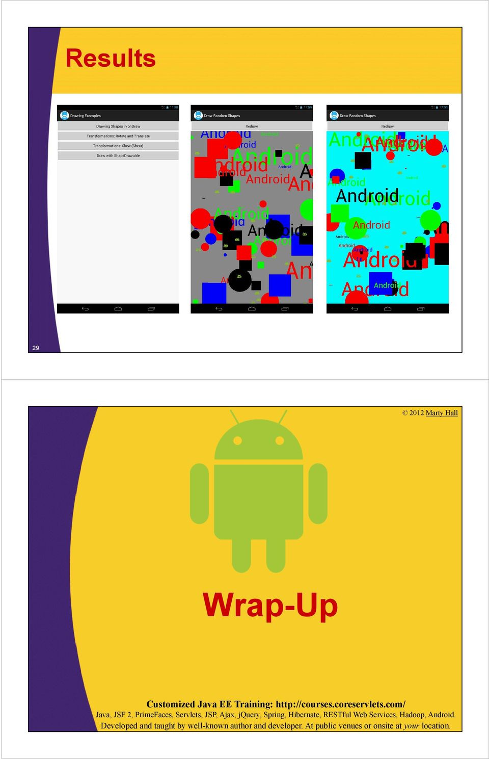Android Programming: 2D Drawing Part 1: Using ondraw - PDF