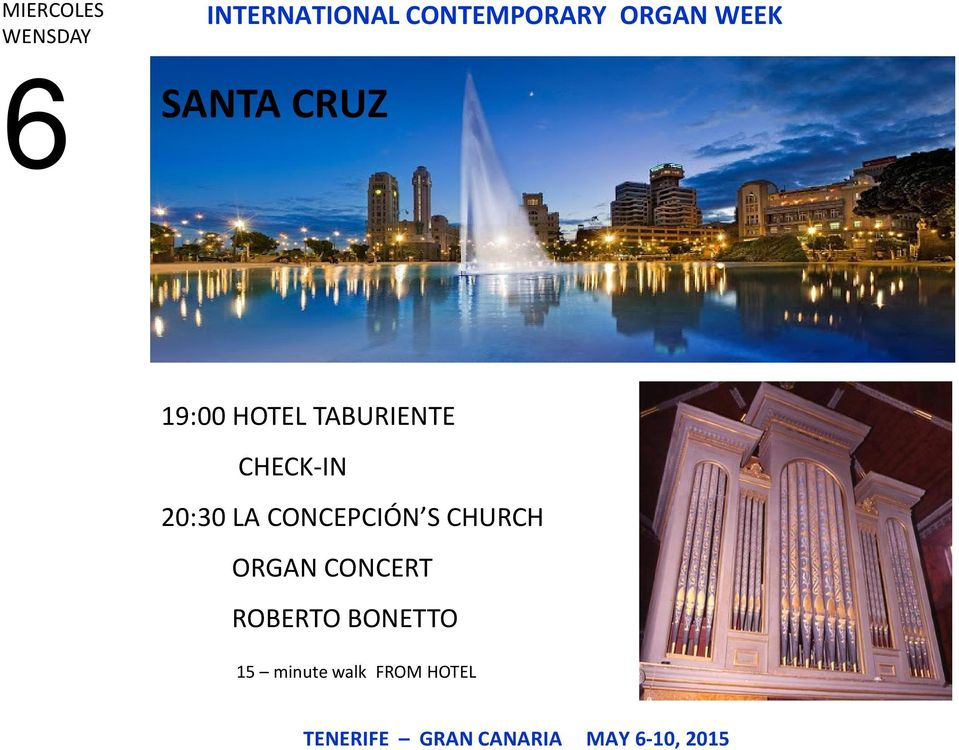 CONCEPCIÓN S CHURCH ORGAN CONCERT