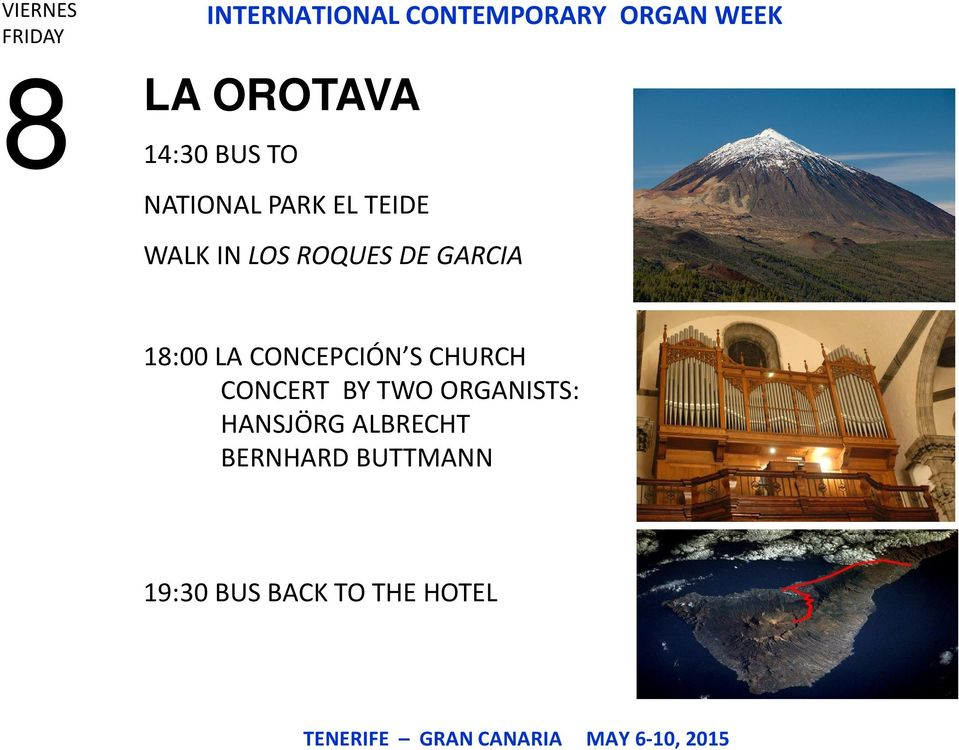 CONCEPCIÓN S CHURCH CONCERT BY TWO ORGANISTS: