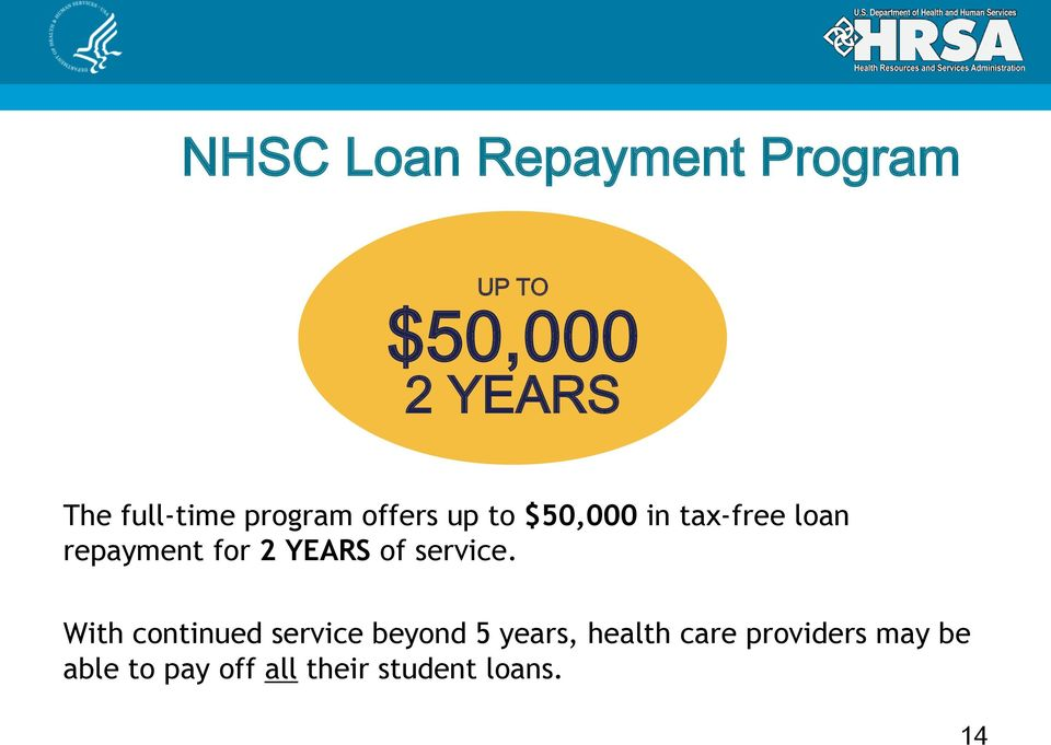 tax-free loan 12% repayment for 2 YEARS of service.