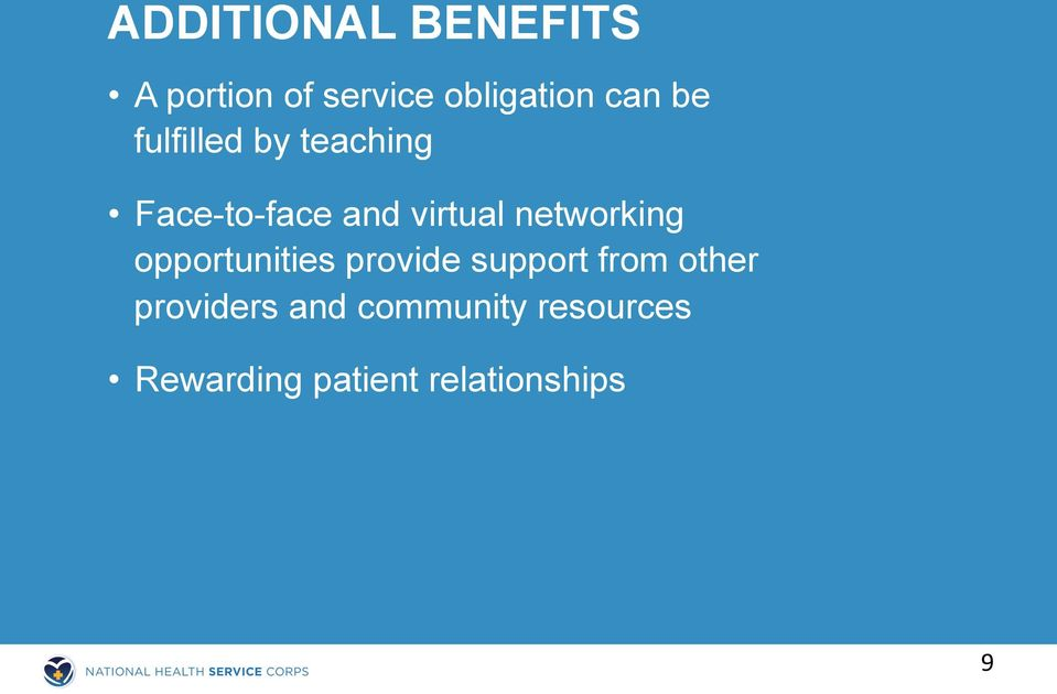 networking opportunities provide support from other