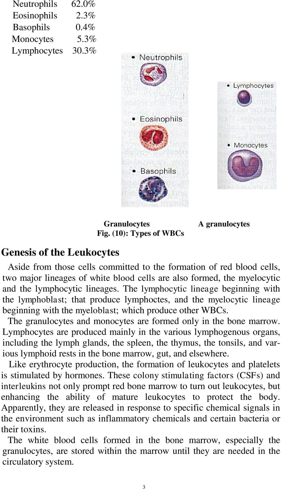 myelocytic and the lymphocytic lineages.