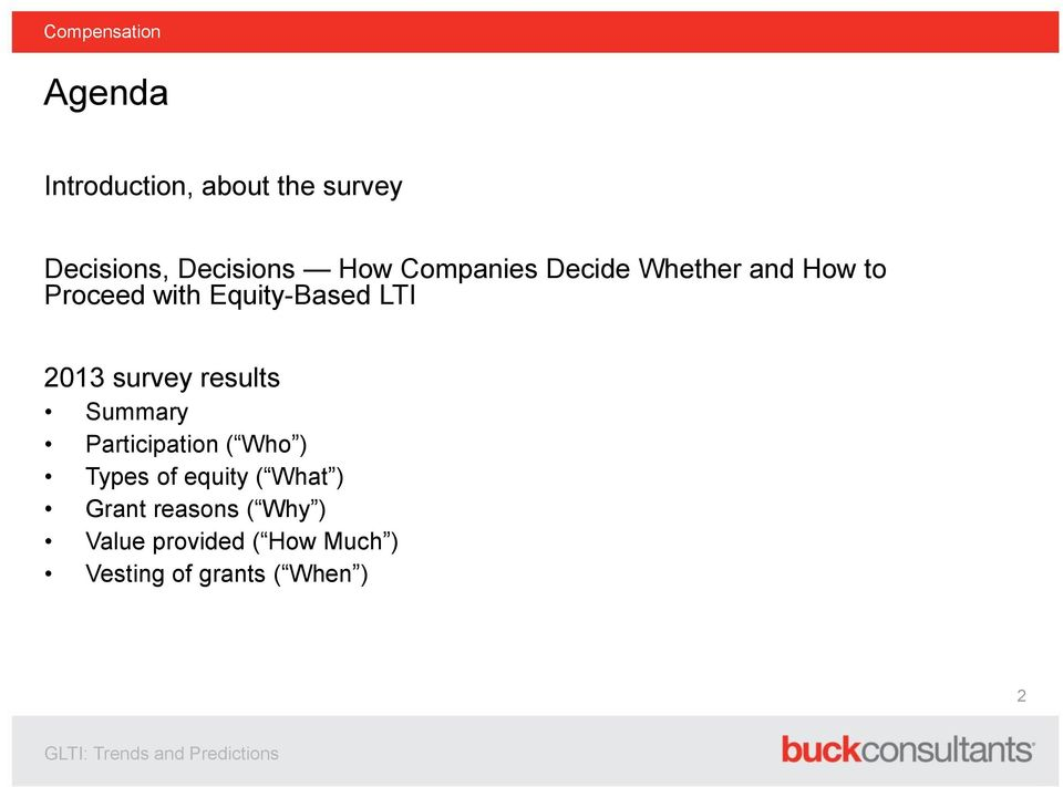 Summary Participation ( Who ) Types of equity ( What ) Grant reasons ( Why )