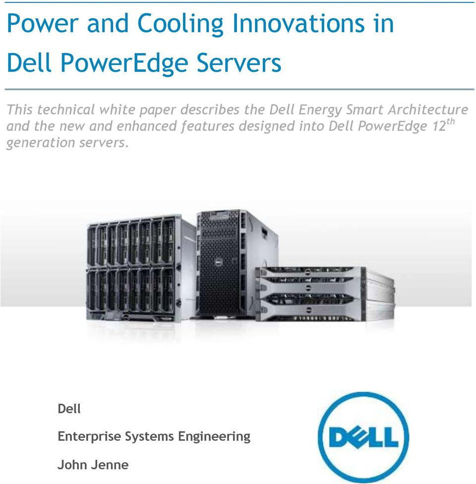 Power and Cooling Innovations in Dell PowerEdge Servers - PDF