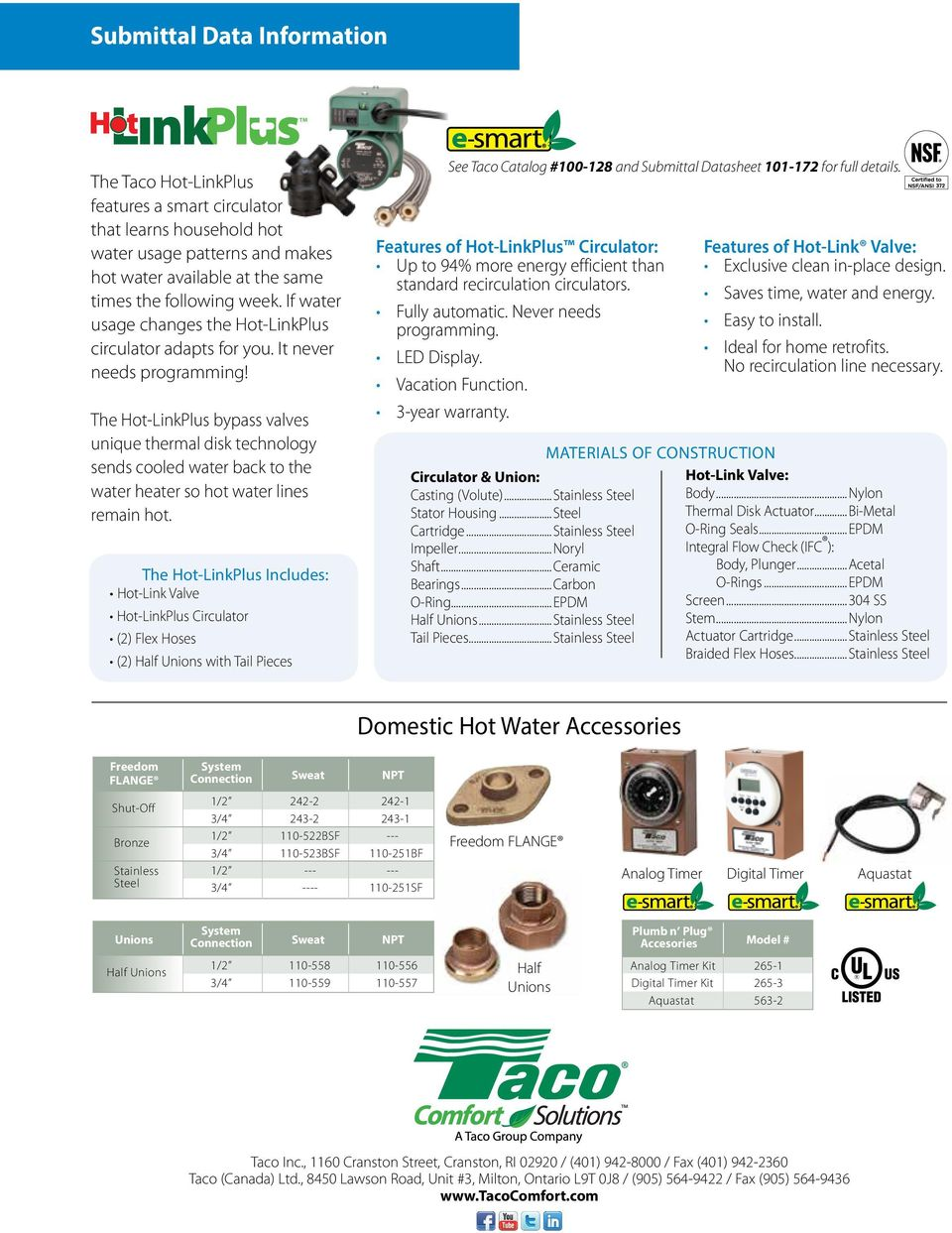 Domestic Hot Water Recirculation Systems Application Selection Taco Zone Valve Wiring Diagram 557 The Linkplus Bypass Valves Unique Thermal Disk Technology Sends Cooled Back To