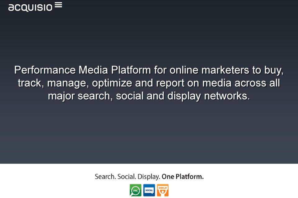 optimize and report on media across