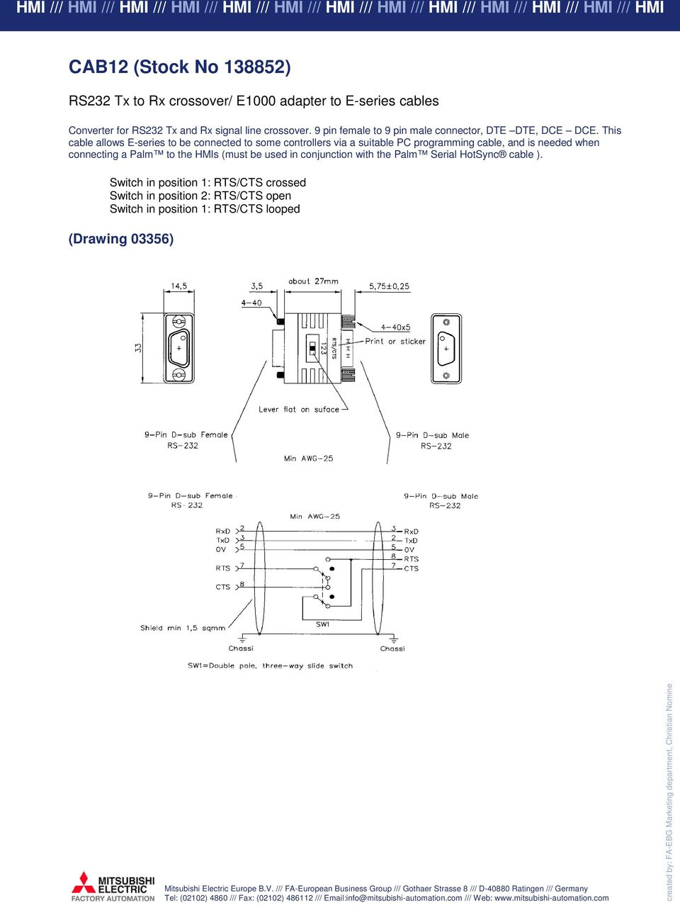 E Series E1000 Cable Guide Pdf Diagram Together With Rs 232 Serial Port Pinout On 9 Pin Rs232 This Allows To Be Connected Some Controllers Via A Suitable Pc