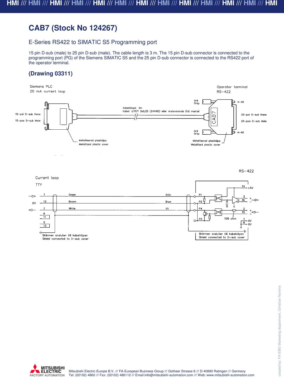 E Series E1000 Cable Guide Pdf Pinout Fabrication Diagrams The 15 Pin D Sub Connector Is Connected To Programming Port Pg