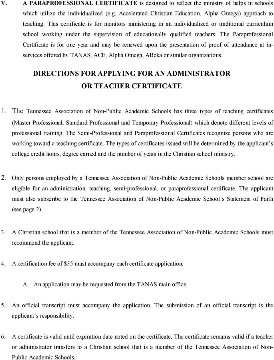Tanas Teacher Certification Manual Pdf