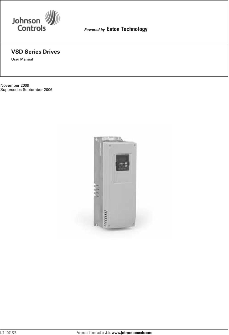Vsd Series Drives November 2009 Supersedes September Powered By Eaton Vfd Wiring Diagram 2006 Lit 1201828 For More