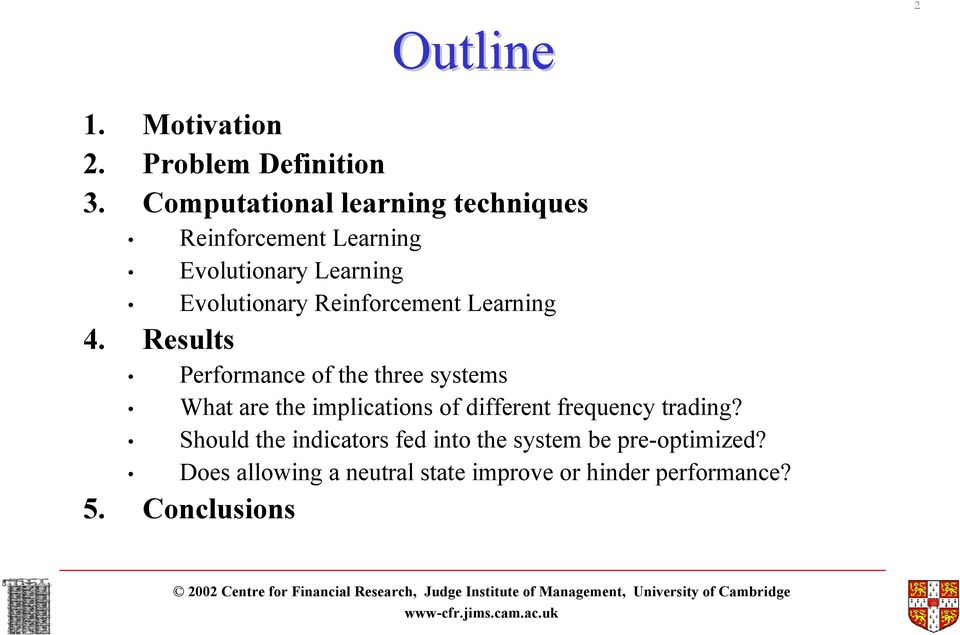 intraday fx trading an evolutionary reinforcement learning approach