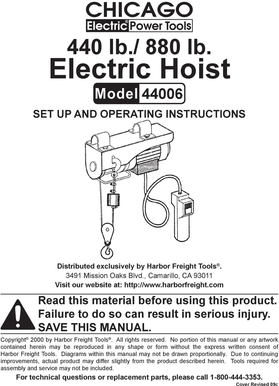 Electric Hoist PDF on