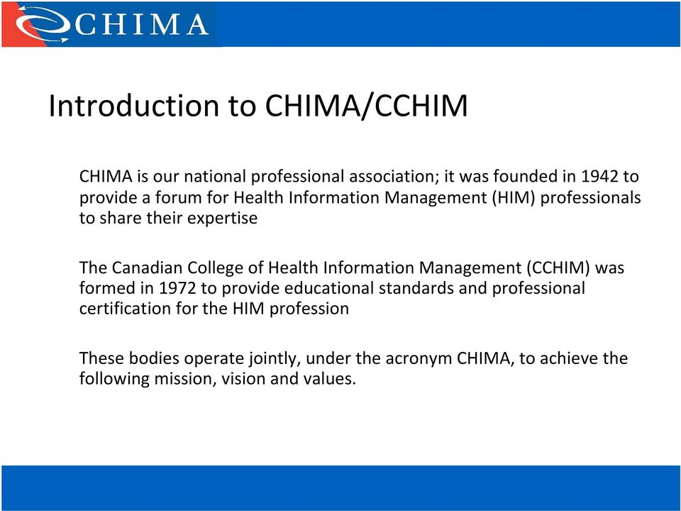 Preparing To Challenge The Chima National Certification Examination