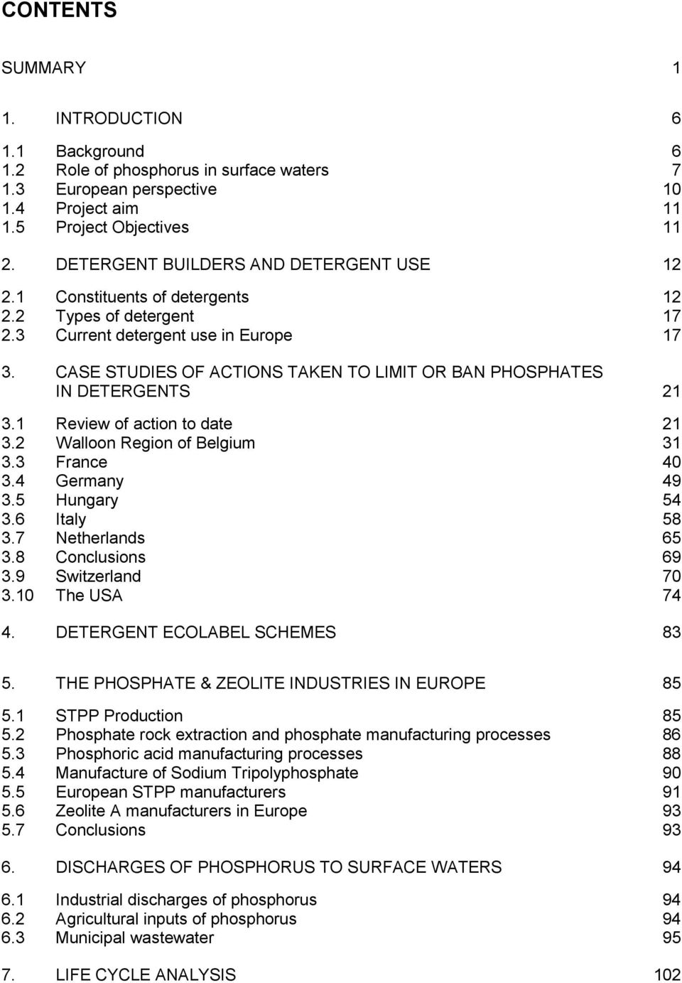 Eu Environment Directorate Phosphates And Alternative Detergent Manganese Zeolite Super 1 Kg Case Studies Of Actions Taken To Limit Or Ban In Detergents 21 31 Review
