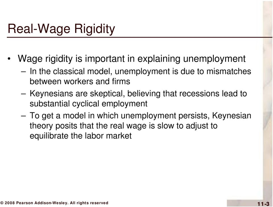 that recessions lead to substantial cyclical employment To get a model in which unemployment