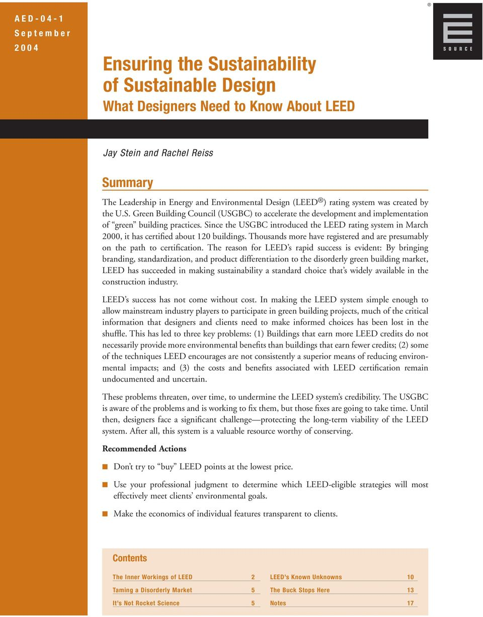 Ensuring The Sustainability Of Sustainable Design What Designers
