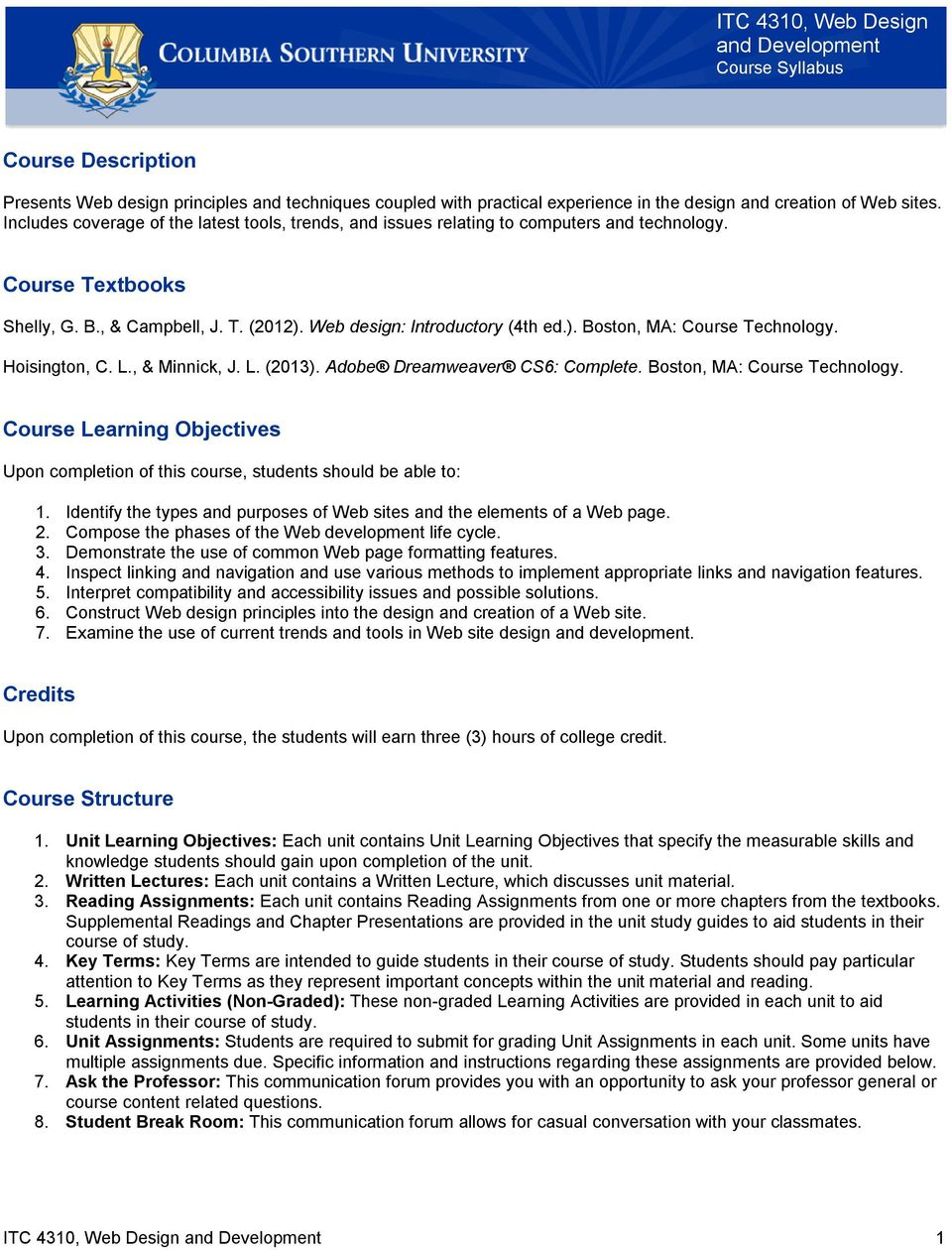 Shelly G B Campbell J T 2012 Web Design Introductory 4th Ed Boston Ma Course Technology Pdf Free Download