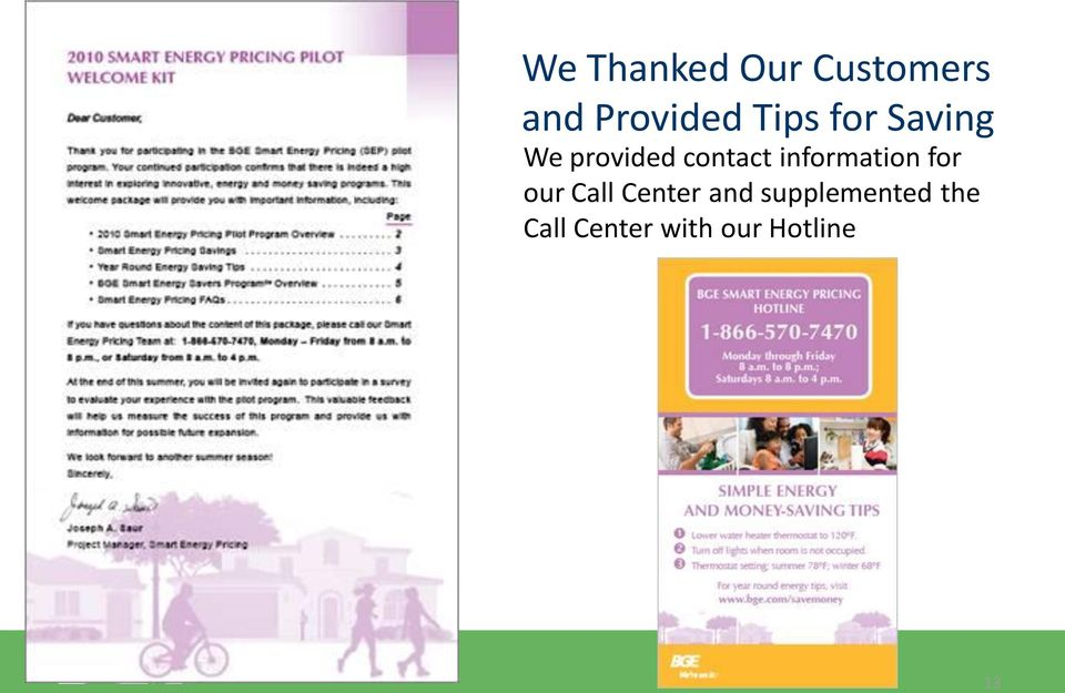 information for our Call Center and