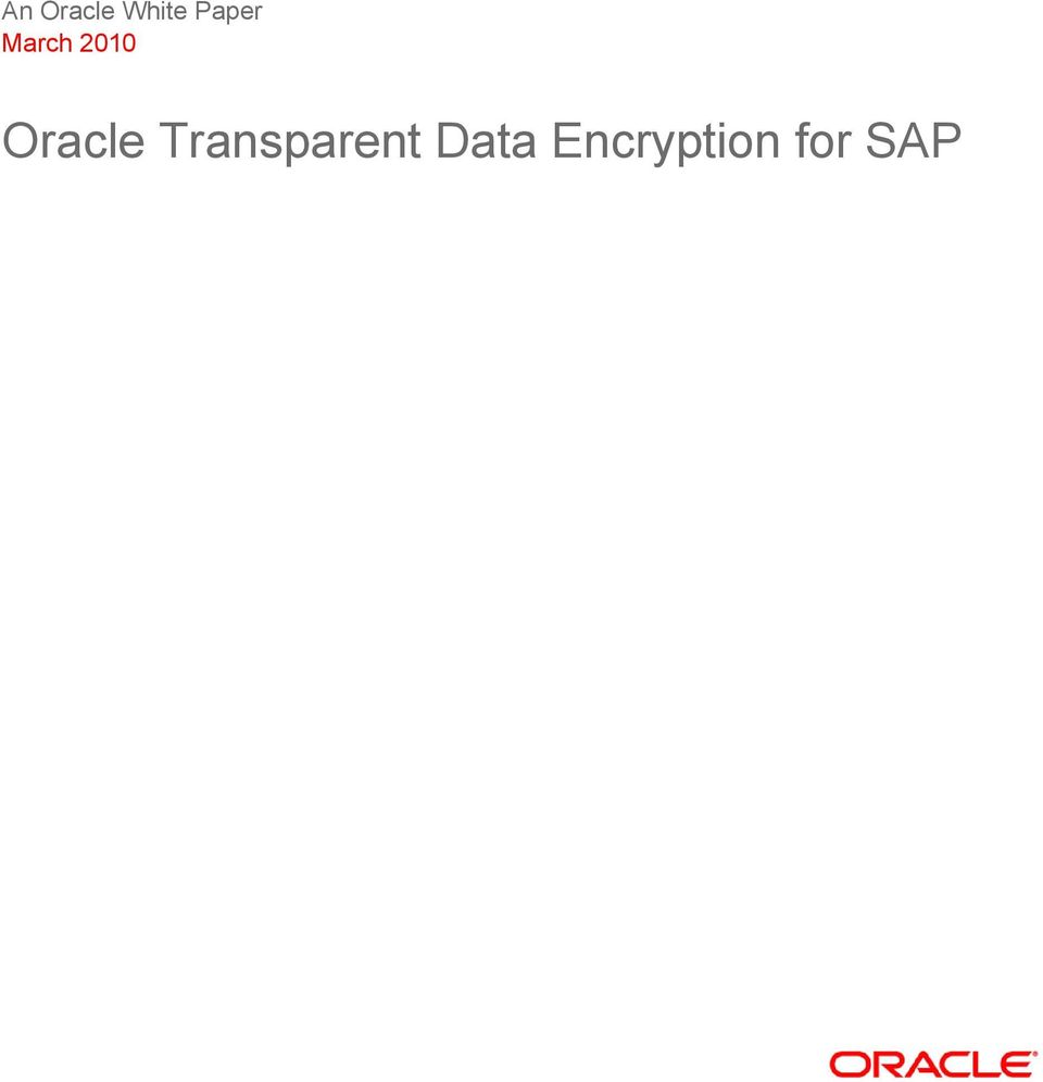 Oracle Transparent
