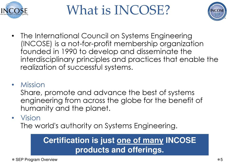 Incose Systems Engineering Professional Sep Certification Pdf