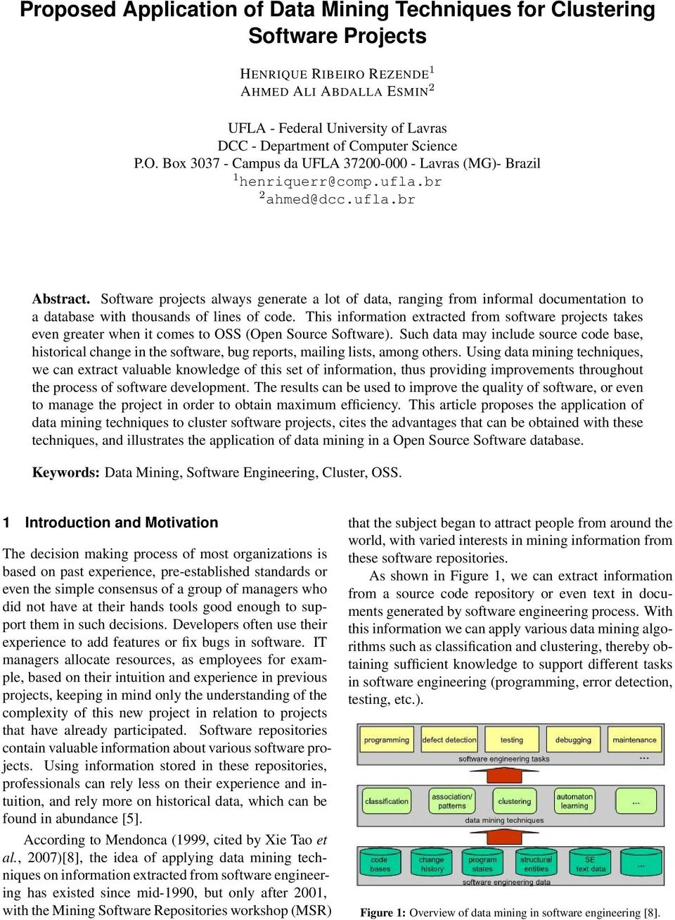 Proposed Application of Data Mining Techniques for
