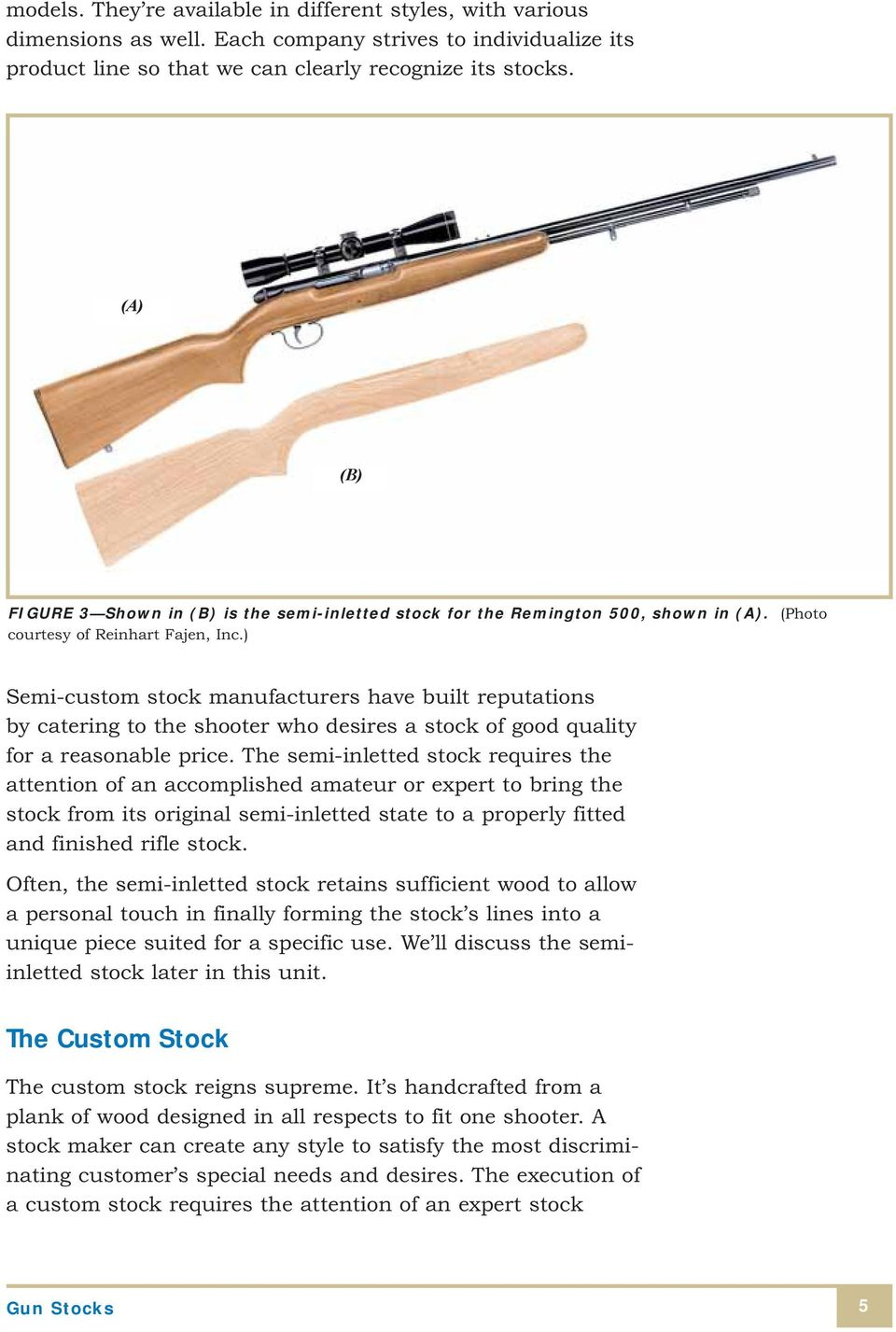 Gun Stocks STOCK DESIGN AND STOCK STYLE  Types of Gun Stocks