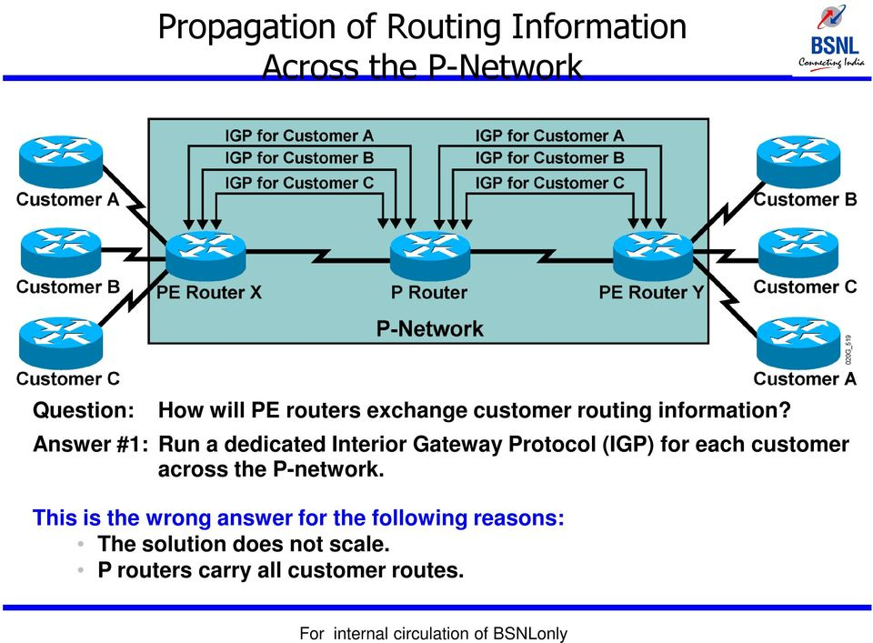 Answer #1: Run a dedicated Interior Gateway Protocol (IGP) for each customer across
