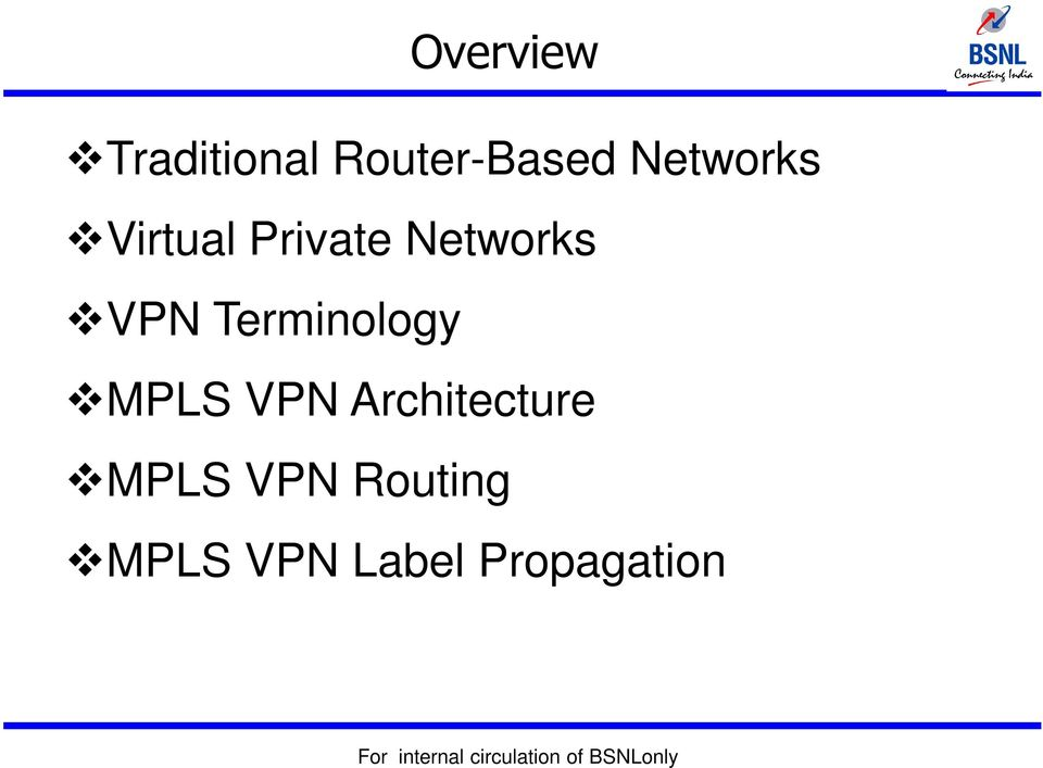 Terminology MPLS VPN Architecture