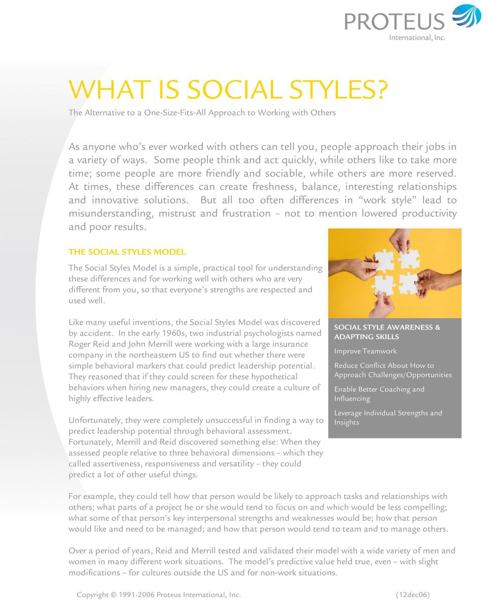 WHAT IS SOCIAL STYLES? - PDF