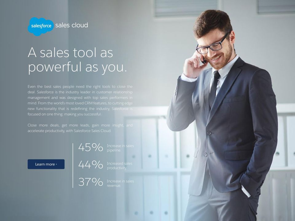 From the world s most loved CRM features, to cutting edge new functionality that is redefining the industry, Salesforce is focused on one thing: making