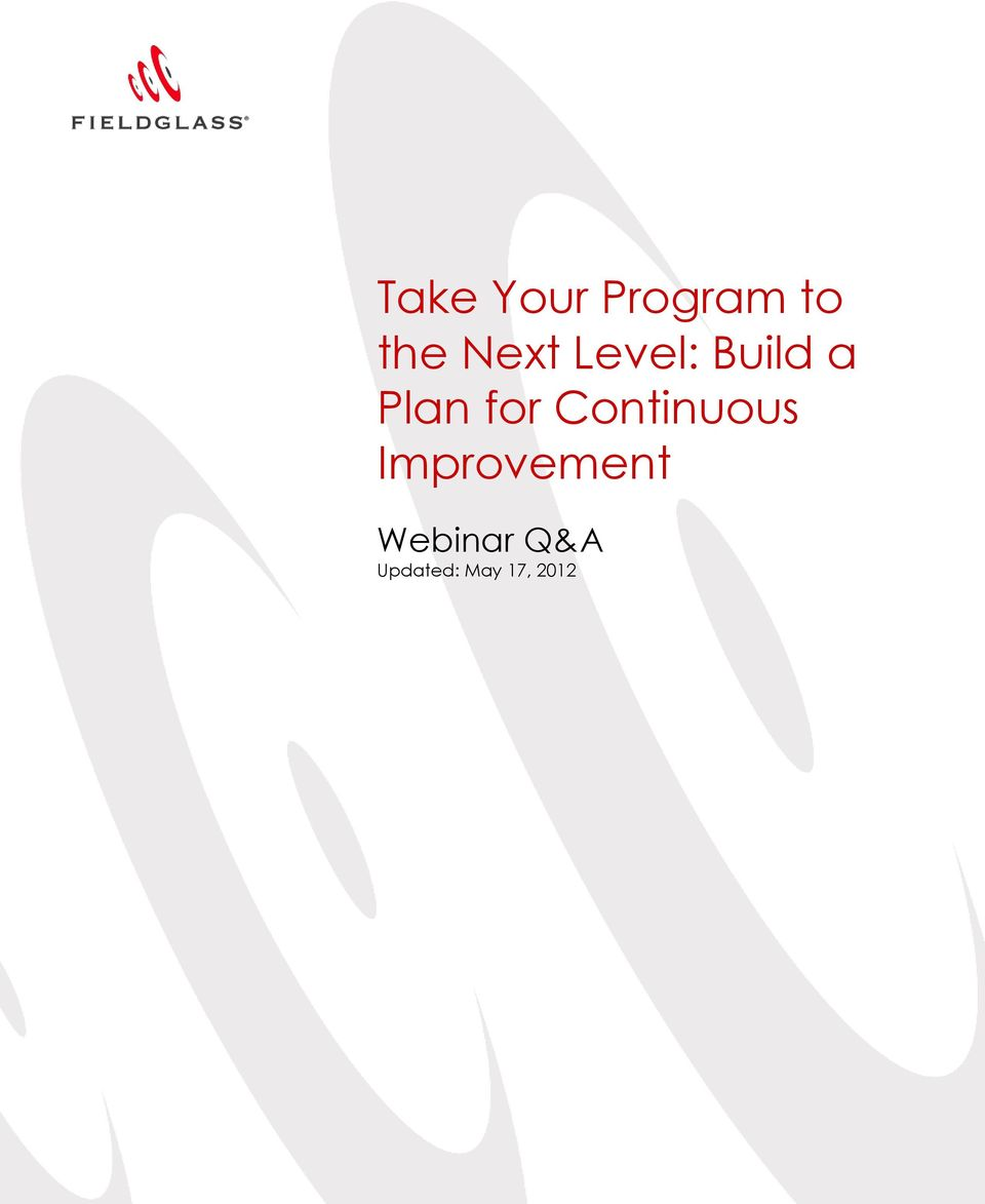 for Continuous Improvement