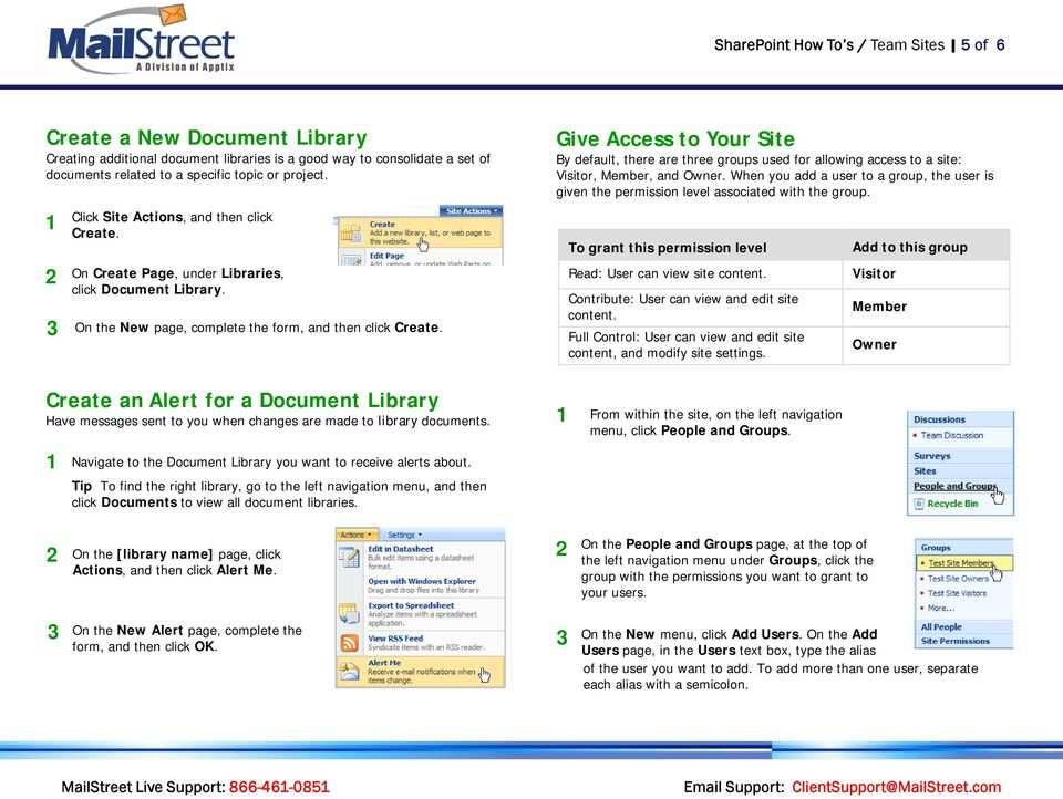 Create an Alert for a Document Library Have messages sent to you when changes are made to library documents.