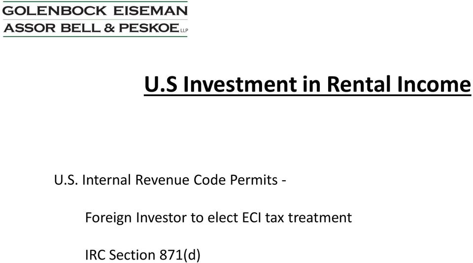 Permits - Foreign Investor to