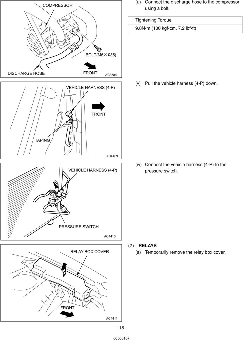 Inside Engine Compartment Toyota Air Conditioning English Europe Wiring Diagram 2004 Vw Passat Turbo Intercooler 1997 2 Lbf Ft Boltm6 35 Discharge Hose Ac3584 Vehicle Harness 4