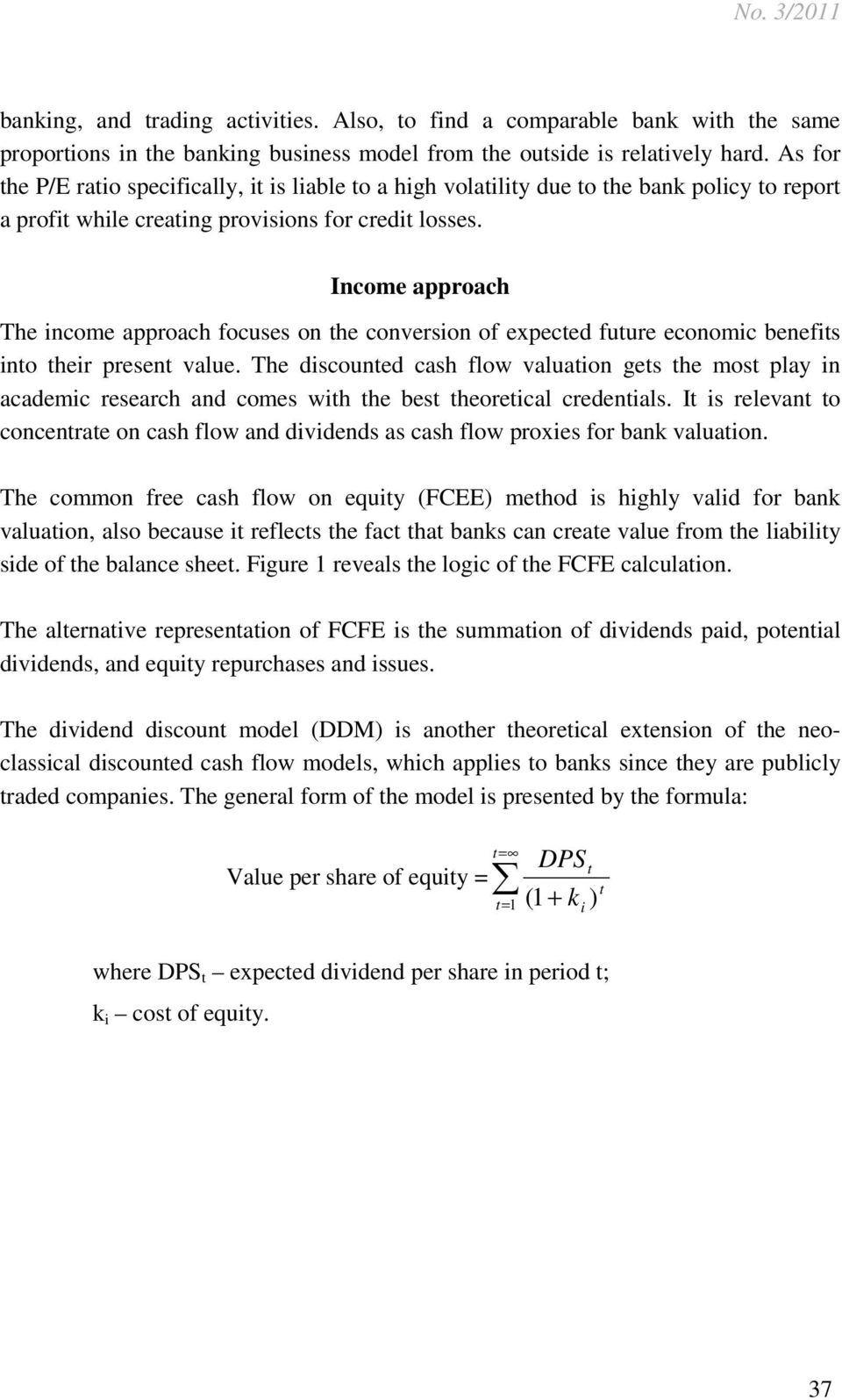 METHODS OF BANK VALUATION: A CRITICAL OVERVIEW - PDF
