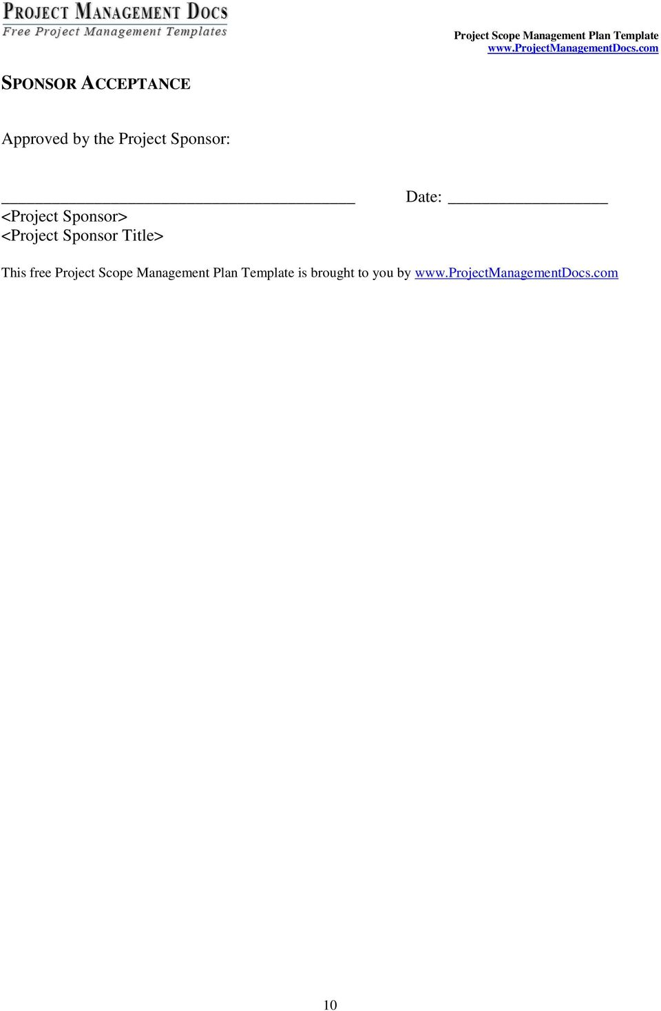 Procurement Management Plan Template Doc Procurement Management