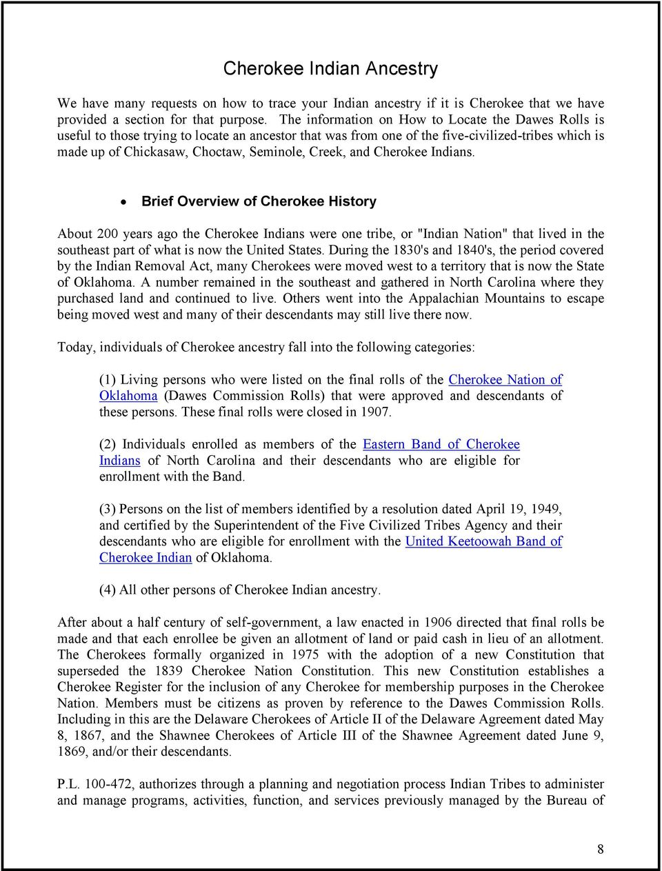 Guide to Tracing Your American Indian Ancestry - PDF