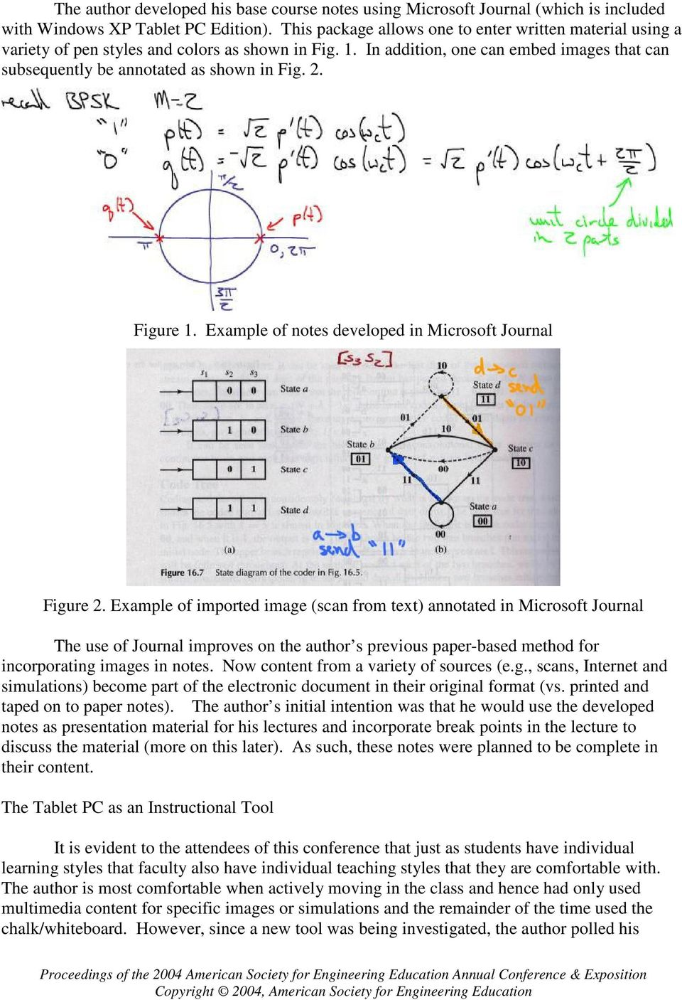 Figure 1. Example of notes developed in Microsoft Journal Figure 2.